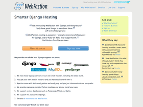 WebFaction screenshot or logo