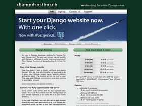 djangohosting.ch screenshot or logo